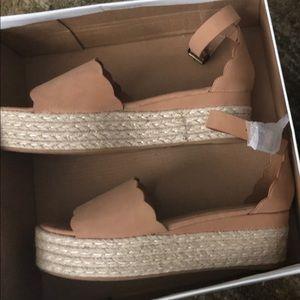 Bamboo platform shoes